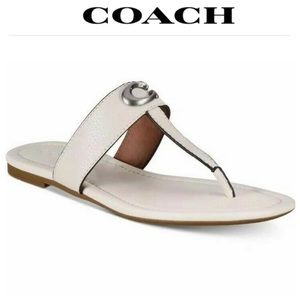COACH Jessie Sandal Pebbled Leather